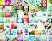 SALE -Was 60 Now 50- A Rare Treasure-  Lot of 65 Antique-Retro-Vintage Greeting Cards:Christmas, Easter, Birthday, Get well
