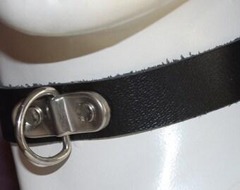 Gothic / Fetish Leather Choker 'Leash'
