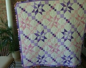 Pretty in Pink and Lavender Star Quilt
