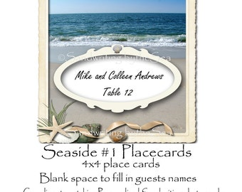 Seaside Beach themed Place cards