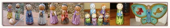 custom made wooden saint doll