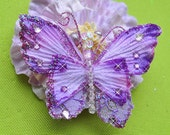 Fly butterfly flower hairclip (pick your choice)