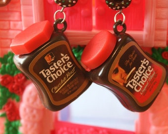 Coffee with doughnut earrings