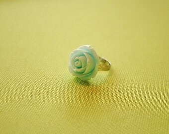 Cloud rose flower ring