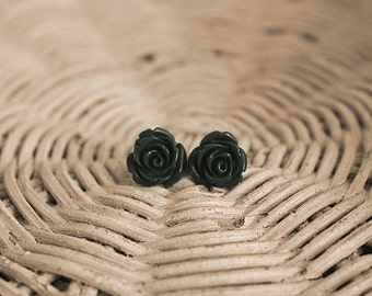 Eighties flower earrings