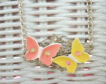 Butterfly love necklace