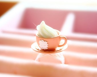 Alice in Wonderland teacup with whipped cream ring (((shabby chic style)))