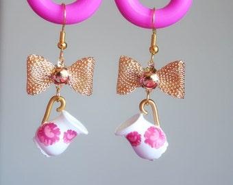 Shabby chic Milk Jug earrings