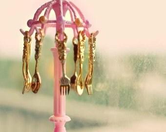 Princess silverware necklace