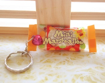 Marshmallow bag keychain