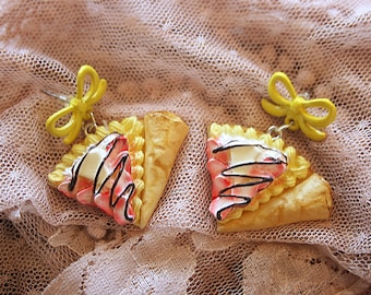 Strawberry with banana Nutella Crepes earrings