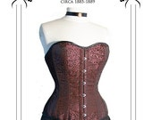 Victorian Corset Sewing Pattern long line 1880's XL (FBXL)