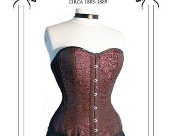 Victorian Corset Sewing Pattern long line 1880's LARGE (FBL)