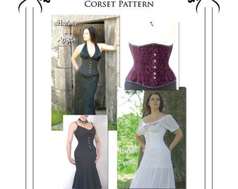 Victorian Underbust Corset Paper Sewing Pattern Large (UBPL)