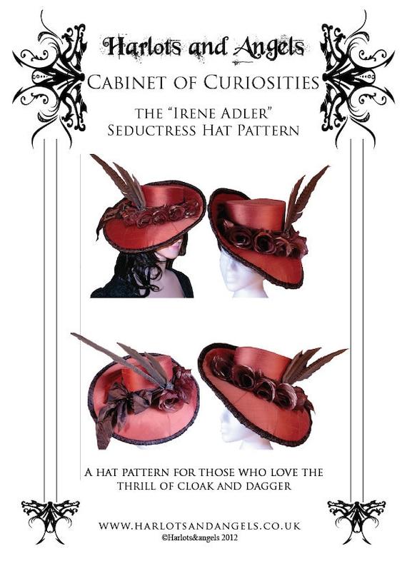 Irene Adler Victorian Buckram Hat Millinery Sewing Pattern - Steampunk Victorian