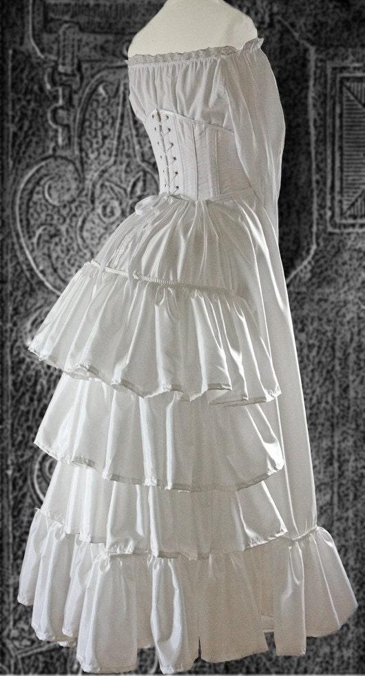 Victorian Dress Bustle Petticoat Steampunk 1880 S