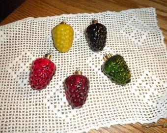 Vintage Glass Fruit Ornaments Set of Eleven