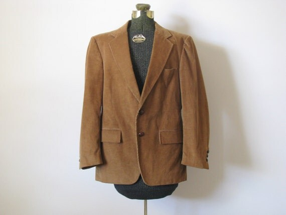 Vintage Corduroy Jacket / Men's Brown Suit by ProseAndPalaver