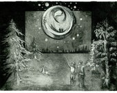 Illuminate, a hand pulled etching