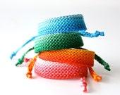 Custom Bracelet, Ombre Bracelet, Shaded Bracelet, Gradient Bracelet, Crochet Bracelet