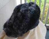 SLOUCH BERET or Dread Tam in BLACK n GRAY for WOMEN n TEENS
