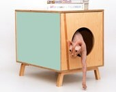 PEEKABOO side table - mid-century design for you and your pet - Small