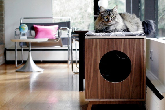 Items Similar To Mid Century Modern Cat Furniture Litter Box Cover Small On Etsy
