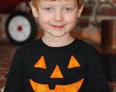 Halloween T-shirt, Jack-o-Lantern T-shirt, Boy or Girl Halloween T-shirt