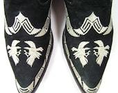 cowboy boots womens 9 B M black gamecocks cowgirl western leather ladies