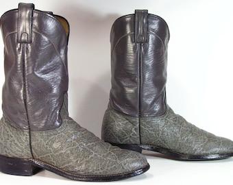 vintage roper cowboy boots womens 9.5 m b gray cowgirl western mens 8 D Abilene u.s.a.