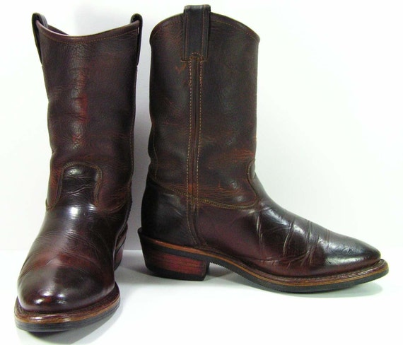 vintage Chippewa cowboy work boots mens 9 D leather grunge
