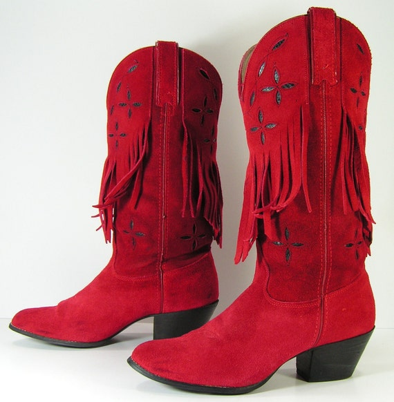 Red Ladies Cowboy Boots - Boot Hto