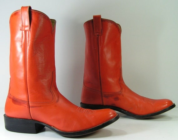 Orange Cowgirl Boots - Cr Boot