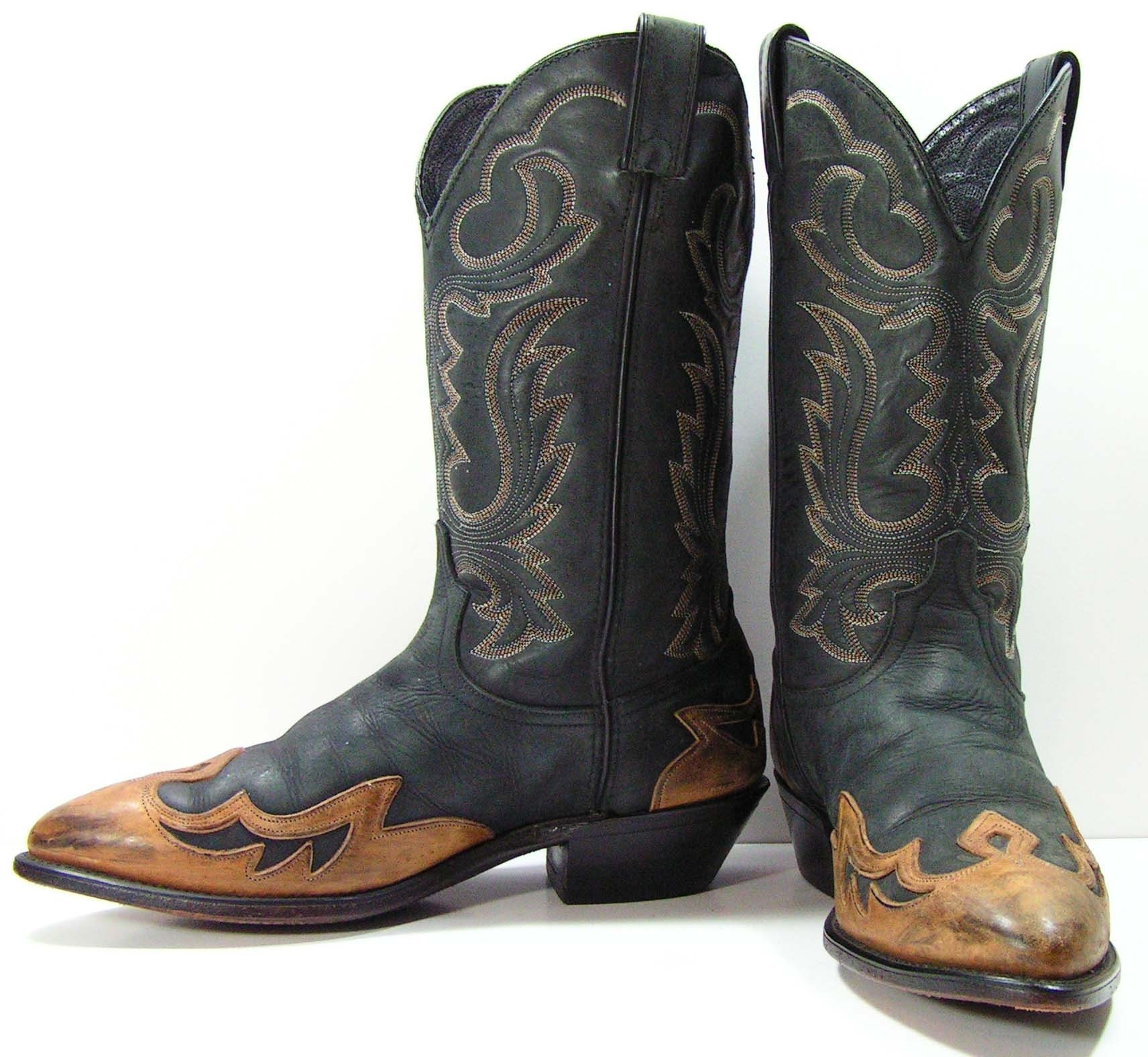 vintage code west cowboy boots mens 8 5 ee or womens 10 wide