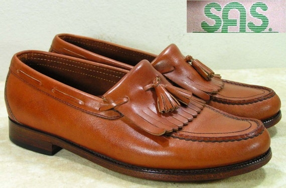 Sas Dress Shoes Mens 8 5 D M Loafers Brown Leather
