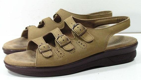 SAS tripad comfort sandals womens 8.5 M B tan leather