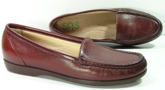 sas shoes womens 7.5 N brown loafers granny flats slides