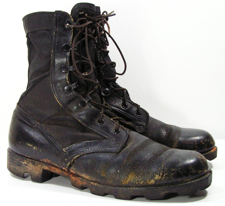 combat boots mens 11 d black grunge leather hippie