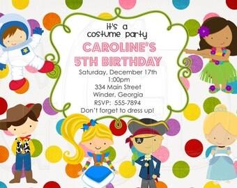 Costume Party Invitation BOY OR GIRL-Digital File