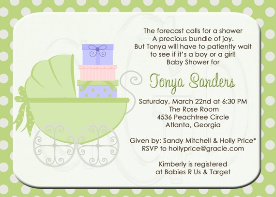 Baby Gift Ideas Third Child : Baby shower invitation or sprinkle for nd rd child