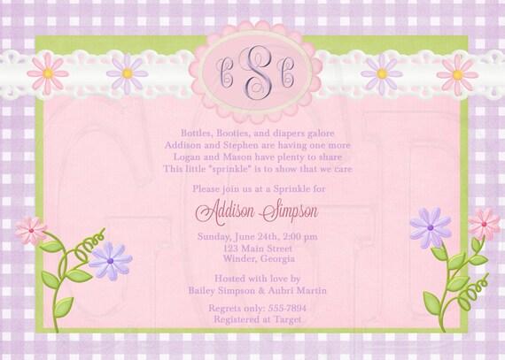 Daisy Baby Shower, Sprinkle or Birthday Invitation-Digital File