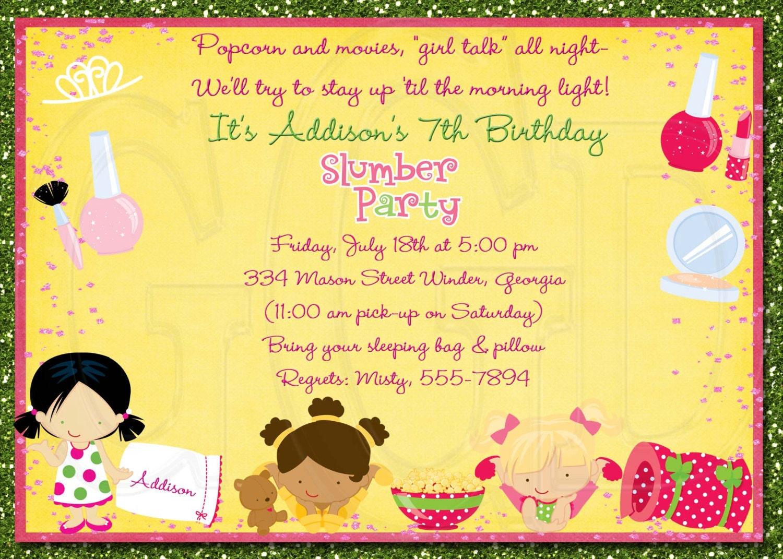 Slumber party invitation pajama party digital file zoom stopboris Choice Image