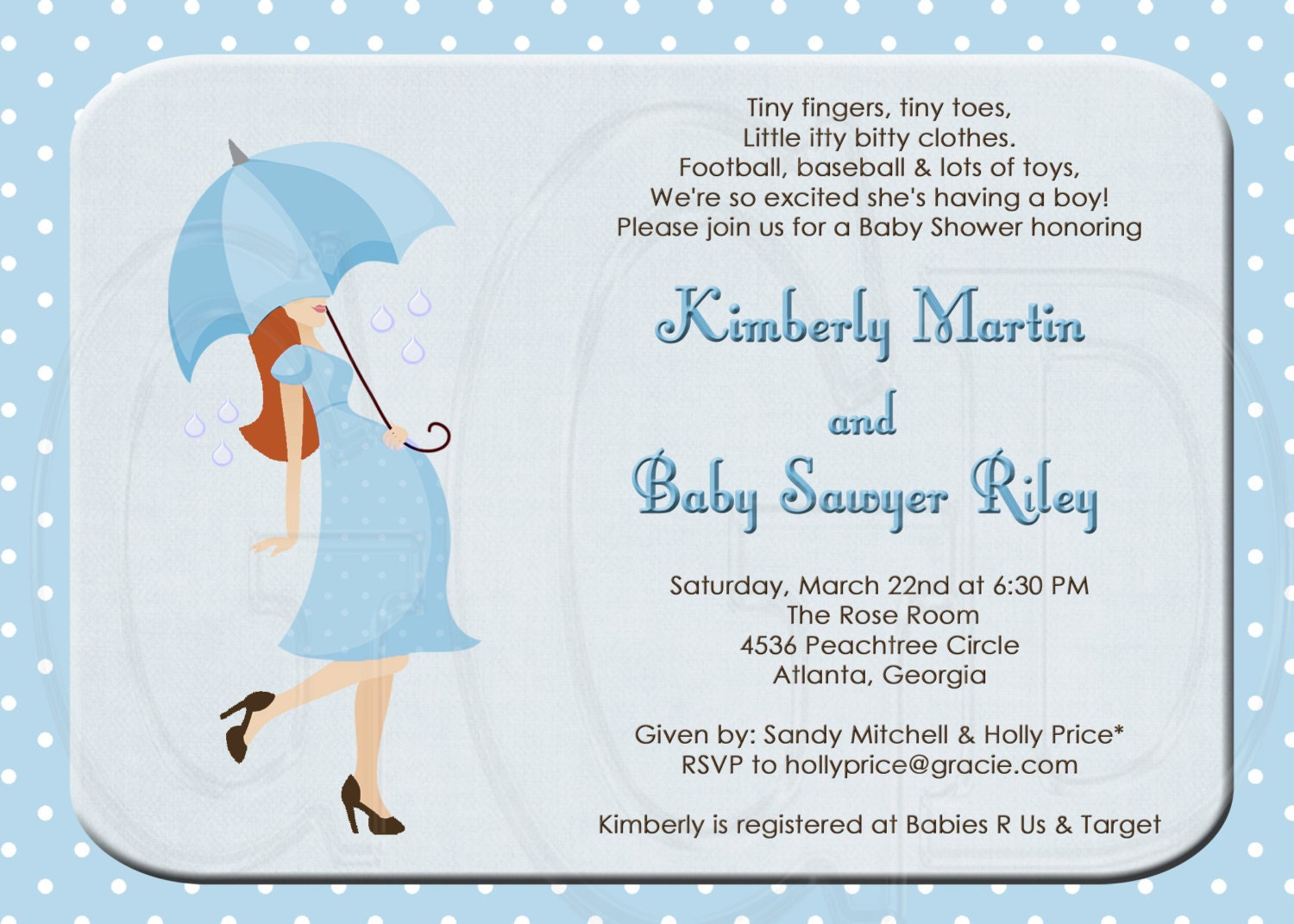 silhouette baby shower or sprinkle for 2nd or 3rd child