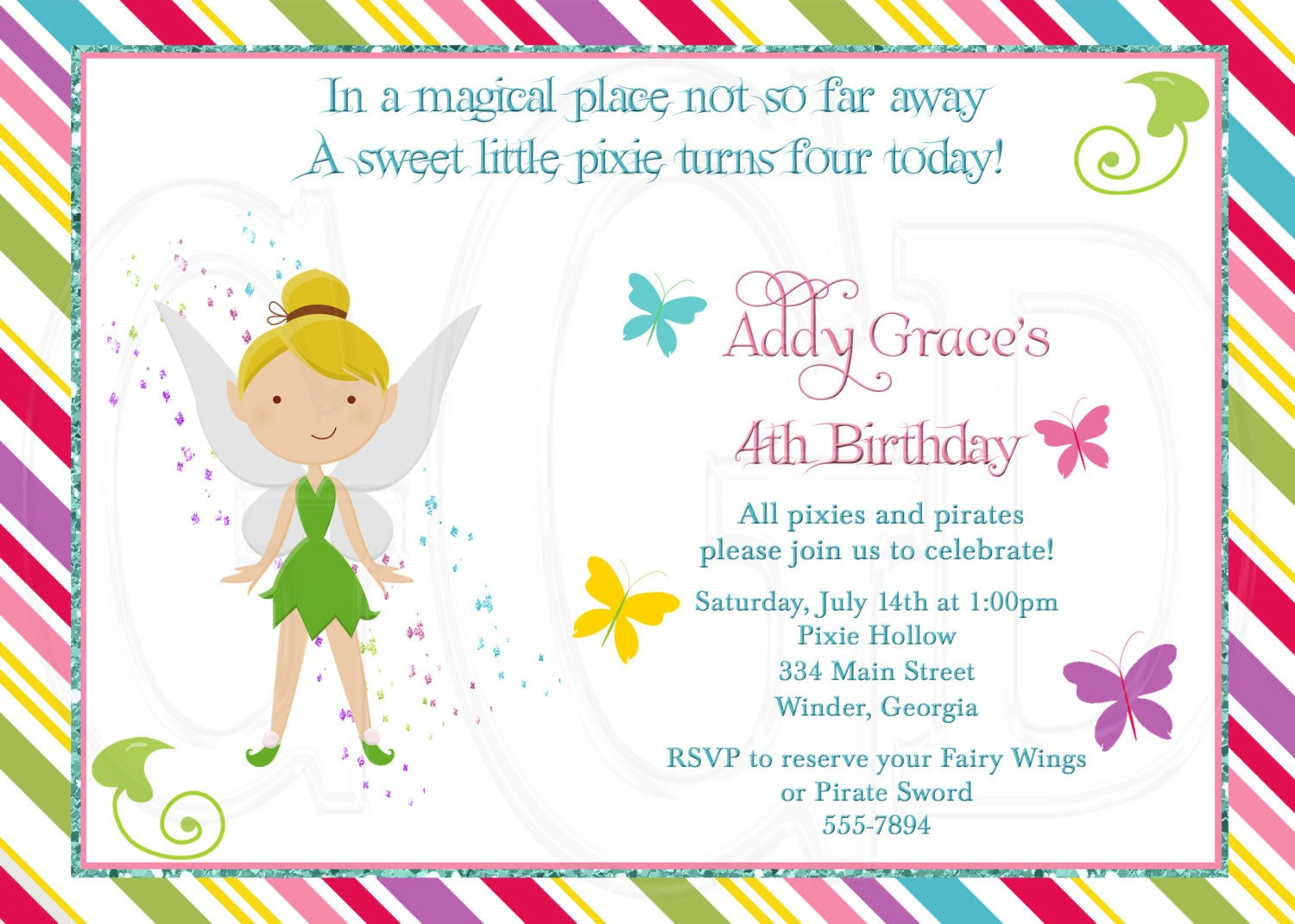 tinkerbell invitation inspired digital file printable tinkerbell invitation inspired digital file printable 128270zoom