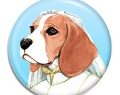 Beagle Magnet - Beagle Bride