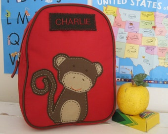 Personalized Mini Backpack Pottery Barn -- Monkey