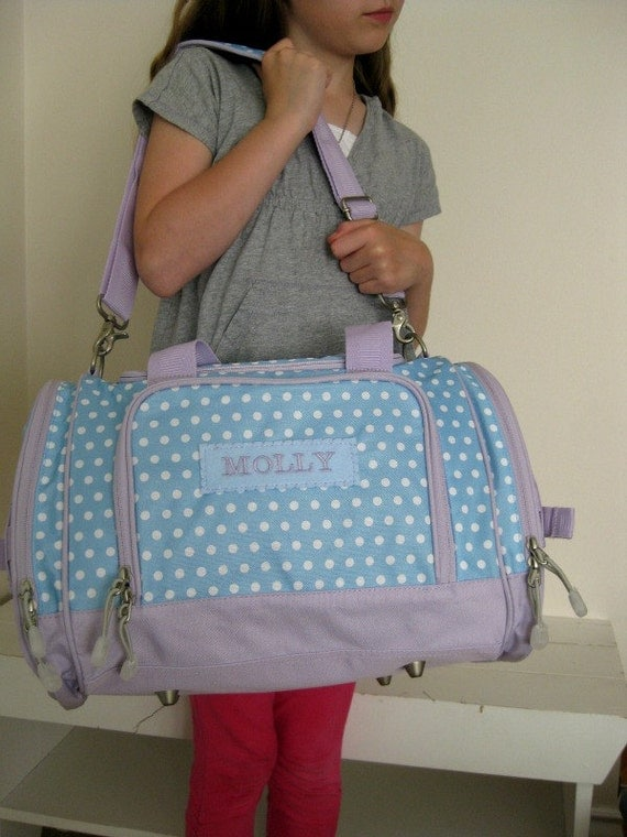 Personalized Kid S Duffle Bag Small Size Upcycled