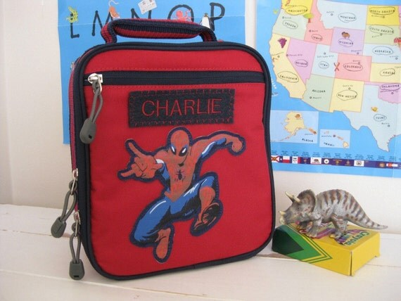 Kids Lunch Box Personalized (Pottery Barn) -- Spider-Man Patch