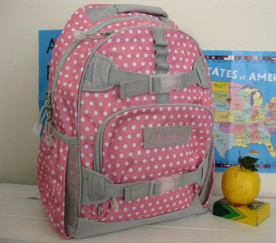 Girls Personalized Backpack With Monogram Large Size