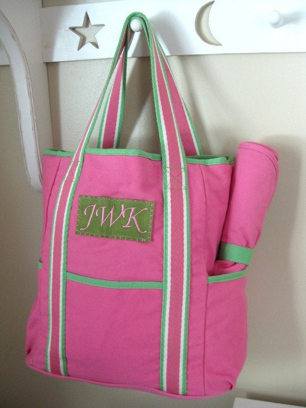 Monogrammed Diaper Bag Upcycled Pottery Barn By Benlovesbirdy